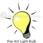Pop Art Light Bulb