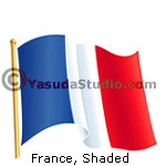 Flag, France, Shaded