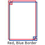 Red, Blue Border