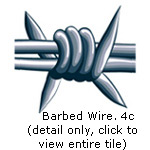 barbed wire, 4 color