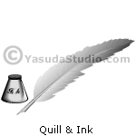 Quill & Ink, Grayscale