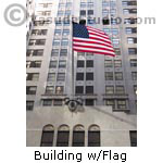 Building with Flag