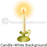 Candle, White Background