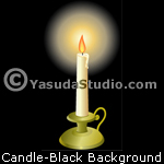 Candle, Black Background