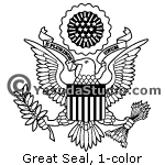 Great Seal, USA,1-color